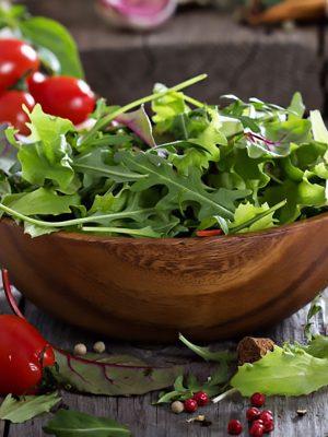 Salad & Mushrooms